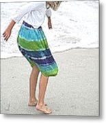 Beach Play Time Metal Print