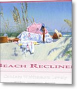 Beach Recliner Poster Metal Print