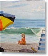 Beach Scene - Childhood Metal Print
