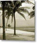 Beach Scene In Key West Metal Print