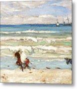 Beach Scene Tangier Metal Print