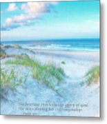 Beach Scripture Verse  Metal Print