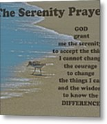 Beach Serenity Prayer Metal Print