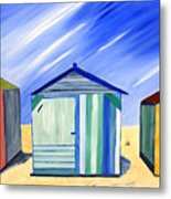 Beach Shacks Metal Print