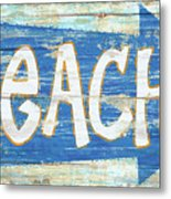 Beach Sign Metal Print