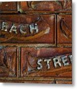 Beach Street Sign Nyc Metal Print