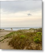 Beach Sunrise At South Padre Island, Tx Metal Print