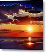 Beach Sunset 5184 Metal Print