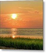 Beach Sunset Glory Metal Print