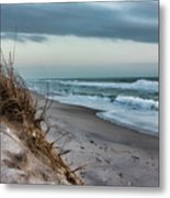 Beach Surrender Metal Print