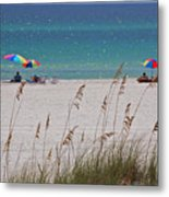 Beach Time At The Gulf - Before The Oil Spill Disaster Metal Print