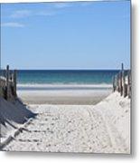 Beach Time Entrance Metal Print