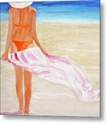 Beach Towel Metal Print