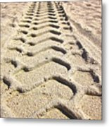 Beach Tracks Metal Print