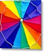Beach Umbrella Panoramic Metal Print
