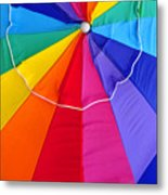 Beach Umbrella's Cell Phone Art Metal Print