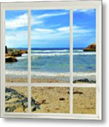 Beach View From Your Living Room Window Metal Print