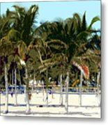 Beach Volleyball Metal Print