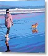 Beach Walk V.4 Metal Print