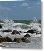 Beach Waves001 Metal Print
