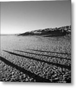 Beach With Shadows Metal Print
