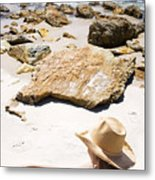 Beach Woman Metal Print by Jorgo Photography - Wall Art Gallery