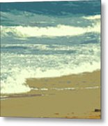 Beachcombers Walk Metal Print