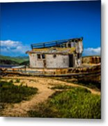 Beached Boat Metal Print