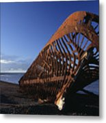 Beached Ship Metal Print
