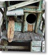 Beachfront Birdhouse For Rent 1 Metal Print