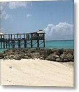 Beachfront Pier Metal Print