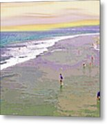 Beachgoers 1 Metal Print
