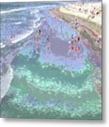 Beachgoers 2 Metal Print