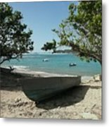 Beaching It Metal Print