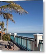 Beachland Boulevard At Vero Beach In Florida Metal Print