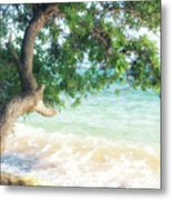 Beachscape Tree Metal Print