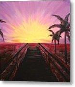 Beachside Sunset Metal Print