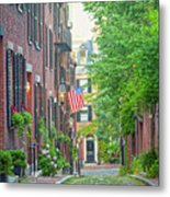 Beacon Hill Metal Print by Susan Cole Kelly