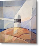 Beacon Seascape Metal Print