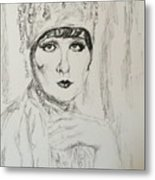 Beaded Chapeau Metal Print
