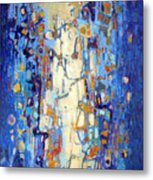 Beaded Curtain Metal Print