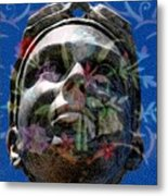 Beaded Girl Metal Print