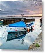 Beadnell Harbour Sunset Metal Print