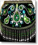 Beadwork And Rhinestones. Belly Dance Fashion Metal Print
