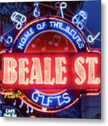 Beale Street Home Of The Blues Metal Print