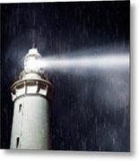 Beaming Lighthouse Metal Print
