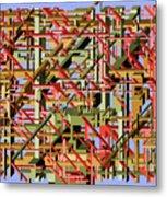 Beams Abstract Art Metal Print