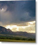 Beams Of Sunlight On Boulder Colorado Foothills Metal Print