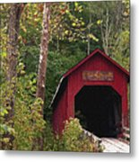 Bean Blossom Bridge I Metal Print