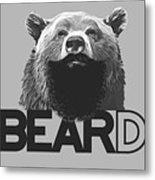 Bear And Beard Metal Print